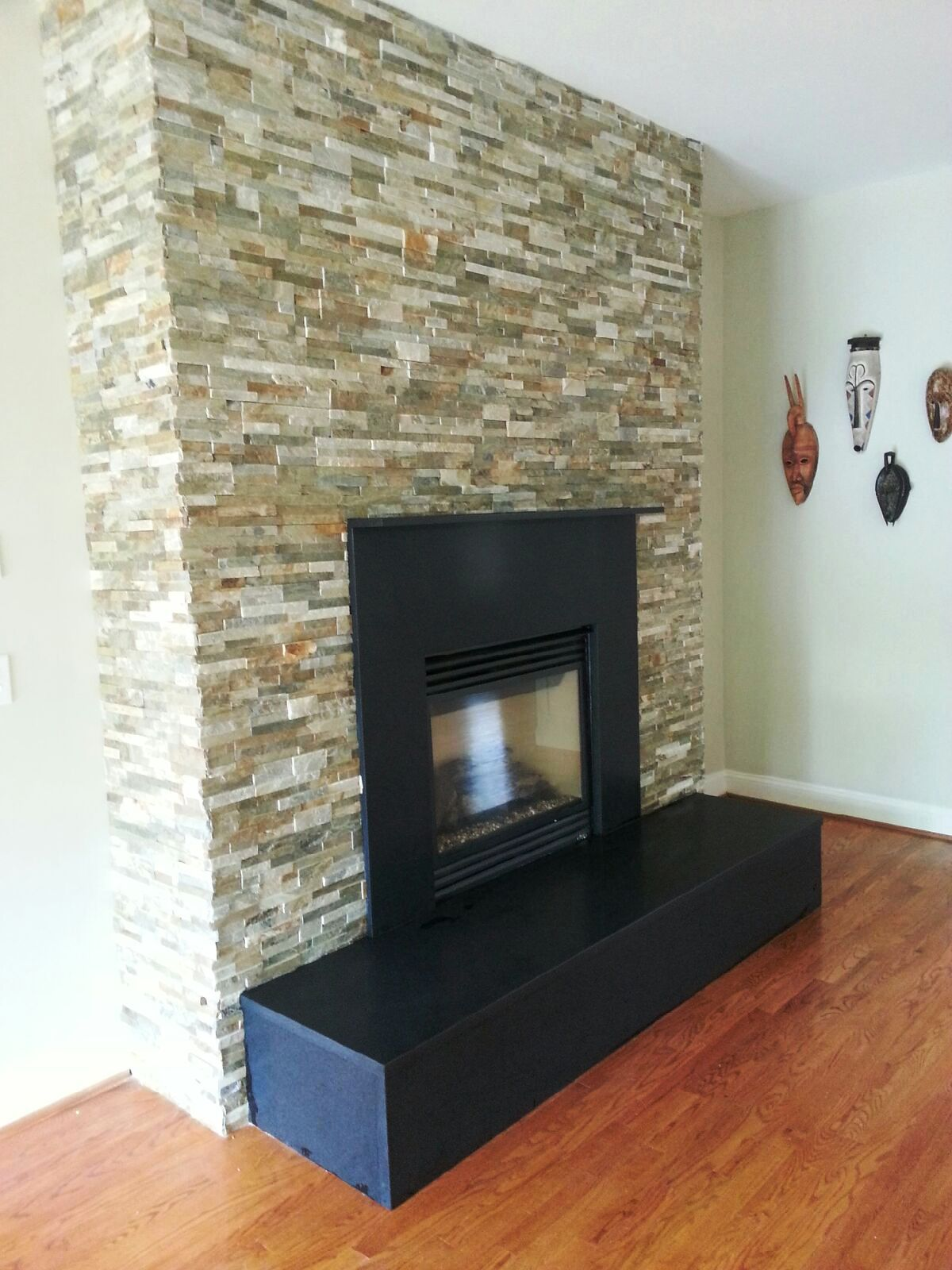 Modern Fireplace Designs With Natural Stones In Fairfax